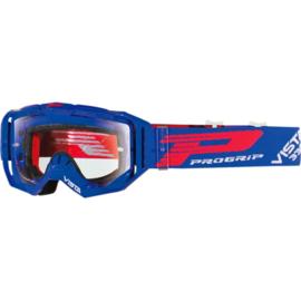 Progrip 3303 Vista crossbril blauw met blanke lens