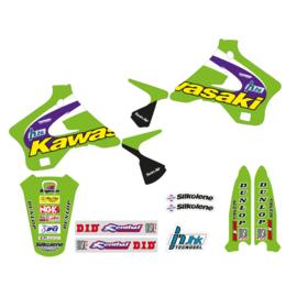 Blackbird Replica Team Kawasaki 1998 sticker set Kawasaki KX 125/250 1994-1998