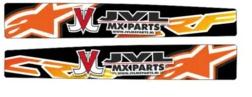 Achterbrug stickers eigen ontwerp voor alle motorcross merken en modellen