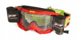 Progrip 3303 Vista crossbril rood met blanke lens + roll off set XL