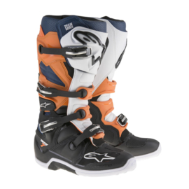 Alpinestars laarzen off-road Tech 7 zwart/oranje/wit/blauw