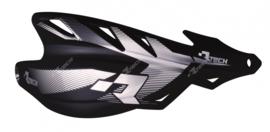 Rtech handkappen Raptor + montageset zwart speciaal voor de Supermoto en Enduro