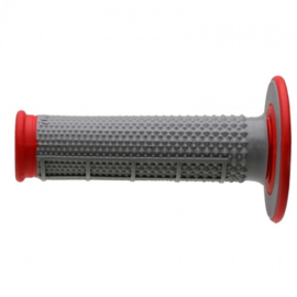 Renthal handvaten G163 rood grip duallayer Tapered half waffle diamond