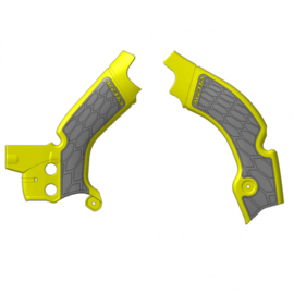Acerbis X-Grip Frame beschermers + Grip geel/grijs voor de Suzuki RMZ 450 2018