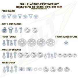 Bolt boutenset voor plastic werk voor de Honda CR 125R/250R 2000-2007 & CRF 450R 2000-2004