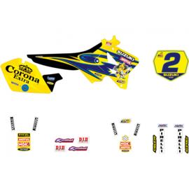 Blackbird Replica Team Suzuki 2001 sticker set Suzuki RM 125/250 2001-2008
