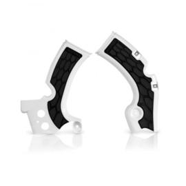 Acerbis X-Grip Framebeschermers + Grip wit/zwart voor de Kawasaki KX 450F 2009-2017