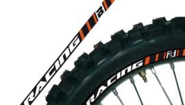 Blackbird velgstickers voor 2 wielen oranje universeel