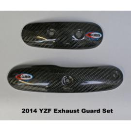 Pro Carbon uitlaat bocht bescherming voor Yamaha YZ 450F 2014-2017