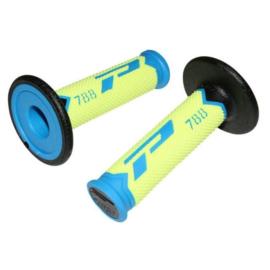 Pro Grip 788 handvaten Tri-Compound licht blauw / fluor geel / zwart