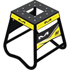 Matrix motorbok A2 aluminium zwart/geel