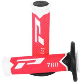 Pro Grip 788 handvaten Tri-Compound wit / rood / zwart