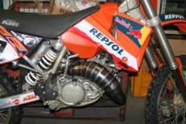 Scalvini compleet uitlaat systeem met INOX eindkap KTM SX 125/144 2004