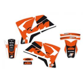 Blackbird Dream 4 sticker set voor de KTM SX 125/150/250 2005-2006 & SX-F 250/350/450 2005-2006 & EXC 250/300 2005-2007 & EXC-F 250/350/450/500 2005-2007