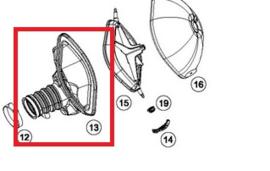 KTM OEM luchtfilterbak hals zwart KTM SX-F 450 2019 & Husqvarna FC 250/450 2019