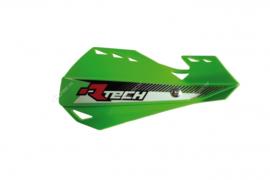 Rtech handkappen Dual + montageset groen type Motocross & Enduro
