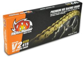 Moto Master ketting 415 V2 Goud 130 Links
