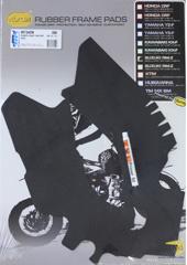 Vibram frame pads zwart voor de Suzuki RMZ 250/450 2010-2012
