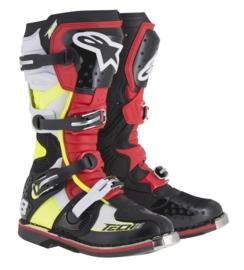 Alpinestars laarzen Tech 8 RS zwart/rood/geel/wit