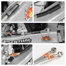 Motomaster OEM vervangende RVS achterrem leiding voor de Yamaha