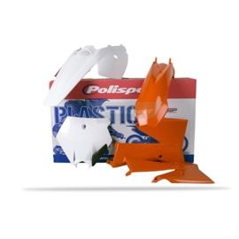 Polisport Plastic kit wit/oranje voor de KTM SX 85 2006-2012
