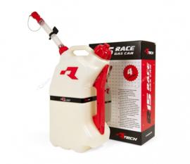R-tech brandstoftank 15 liter wit/rood