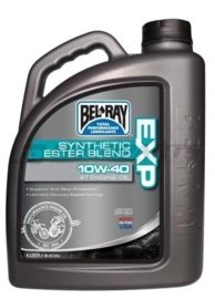 Bel-Ray EXP synthetische Ester Blend 4 takt motorolie 10W40 4 Liter