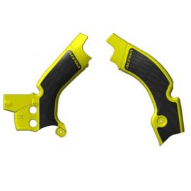 Acerbis X-Grip Frame beschermers + Grip geel/zwart voor de Suzuki RMZ 450 2018-2019