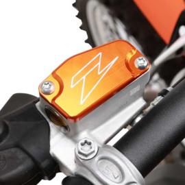 Zeta voorrem reservoir deksel oranje voor de KTM SX/SX-F/EXC/EXC-F 125/144/150/250/350/450/500 2005-2018