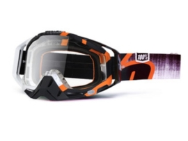 100% crossbril Racecraft oranje destruct - clear lens
