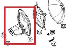 KTM OEM luchtfilterbak hals zwart KTM EXC-F 450/500 2017-2019 & Husqvarna FE 450/501 2017-2019