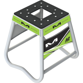Matrix motorbok A2 aluminium wit/groen