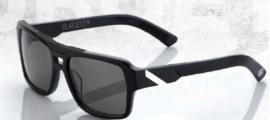 100% zonnebril Burgett matt zwart/wit