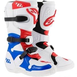 Alpinestars jeugdlaarzen Tech 6S wit/blauw/rood