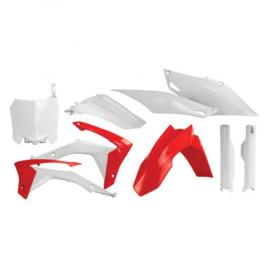 Acerbis plastic kit + voorvorkbeschermers voor de Honda CRF 250R 2014-2017 & CRF 450R 2013-2016