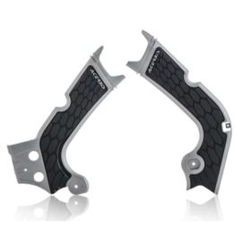 Acerbis X-Grip Framebeschermers + Grip grijs/zwart Honda CRF 250R 2018-2019 & CRF 450R/RX 2017-2018