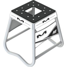 Matrix motorbok A2 aluminium wit/zwart