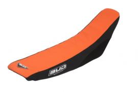 BUD Zadelovertrek oranje/zwart voor de KTM SX 65 2002-2008