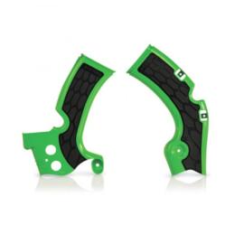 Acerbis X-Grip Framebeschermers + Grip zwart/groen voor de Kawasaki KX 450F 2009-2017
