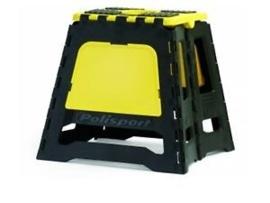 Polisport motorbok zwart/geel