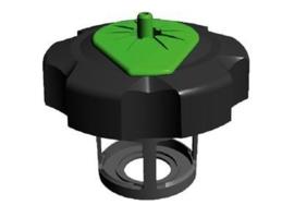 Tuff Jug benzine dop voor Kawasaki KXF 250 11-13 & KXF 450 06-13 zwart/groen