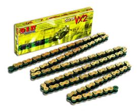 DID Ketting 520 VX3 X-ring goud/zwart 118 schakels