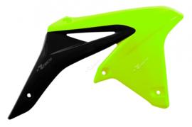 Rtech Radiator kappen neon geel/zwart Suzuki RM-Z 250 2010-2018