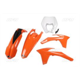 UFO plastic kit (met koplamp plastic ) KTM EXC 125/200/250/300/450/500 2012-2013 & EXC-F 250 2012-2013