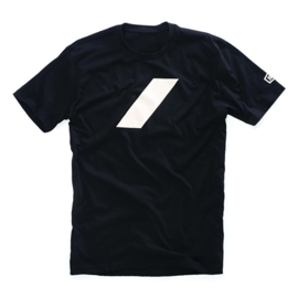 100% T-shirt Black Bar