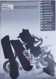 Vibram frame pads zwart voor de KTM SX/SXF EXC/EXC-F 125-450 09-15