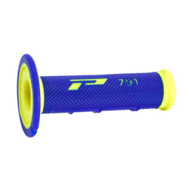 Pro grip handvaten 791 cross soft touch fluor geel / blauw