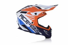 Acerbis X-Track crosshelm Oranje / Blauw