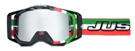 JUST1 Iris Italia crossbril groen/wit/rood