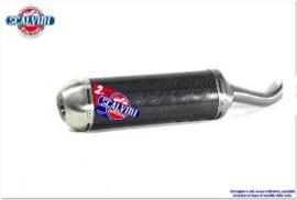 Scalvini uitlaat demper carbon met INOX eindkap KTM SX 250 2019-2021 & KTM EXC 250/300 TPI 2020-2021 & Husqvarna TC 250 2019-2021 & TE 250i/300i 2020-2021 & Gas Gas EC 250/300 2021